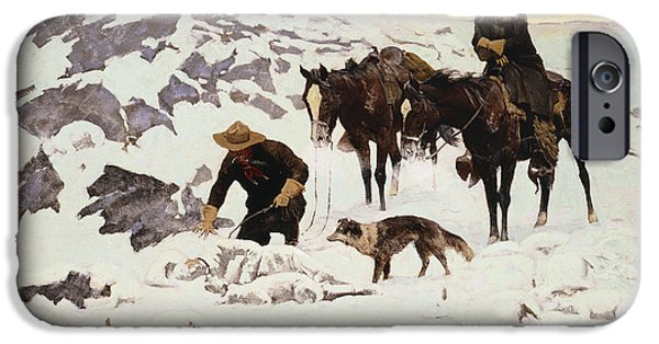 The Frozen Sheepherder IPhone Case by Frederic Remington