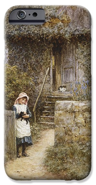 The Garden Gate IPhone Case by Helen Allingham