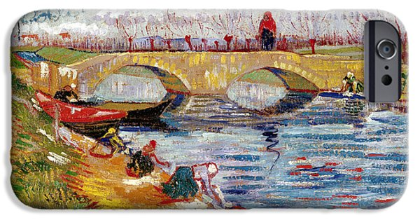 The Gleize Bridge Over The Vigneyret Canal  IPhone Case by Vincent van Gogh