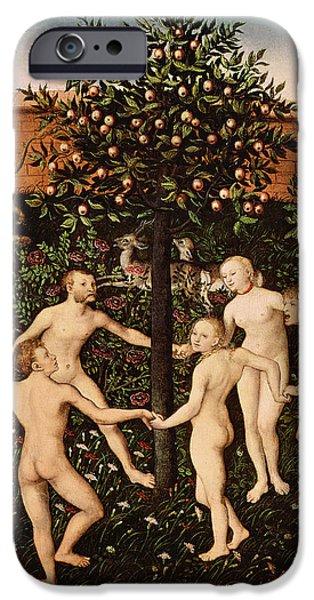 The Golden Age IPhone Case by Lucas Cranach