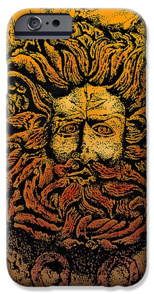 The Gorgon Man Celtic Snake Head IPhone 6s Case by Larry Butterworth