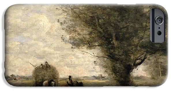 The Haycart IPhone Case by Jean Baptiste Camille Corot