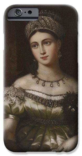 The Hereditary Duchess Of Saxe Gotha Altenburg IPhone Case by MotionAge Designs