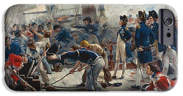 The Hero Of Trafalgar IPhone Case by William Heysham Overend