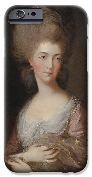 The Hon Mrs Anna Luttrell Duchess Of Cumberland  IPhone Case by Celestial Images