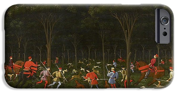 The Hunt In The Forest IPhone Case by Paolo Uccello