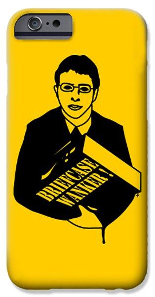 The Inbetweeners Briefcase Wanker IPhone Case by Paul Telling