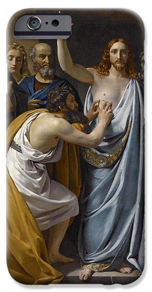 The Incredulity Of Saint Thomas IPhone Case by Francois-Joseph Navez