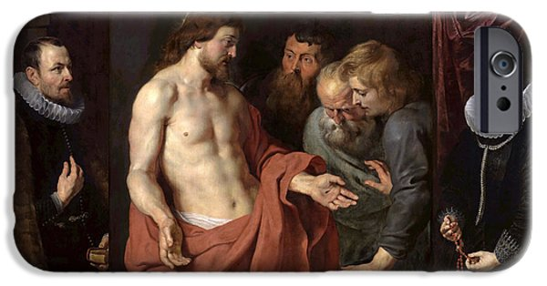 The Incredulity Of St Thomas IPhone Case by Peter Paul Rubens