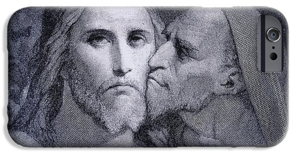 The Kiss. Judas Iscariot Kisses Jesus IPhone Case by Vintage Design Pics