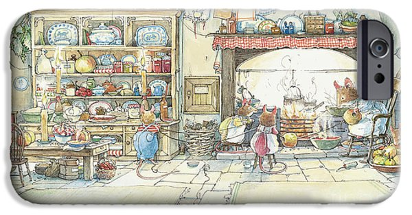The Kitchen At Crabapple Cottage IPhone 6s Case by Brambly Hedge