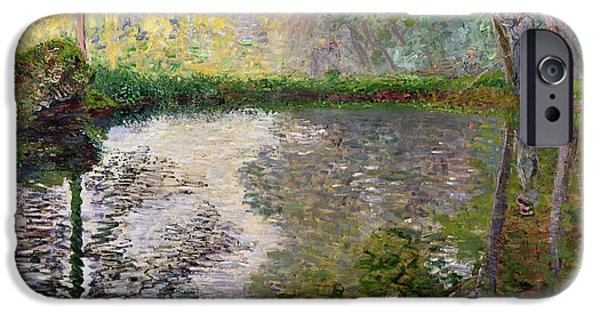 The Lake At Montgeron IPhone Case by Claude Monet