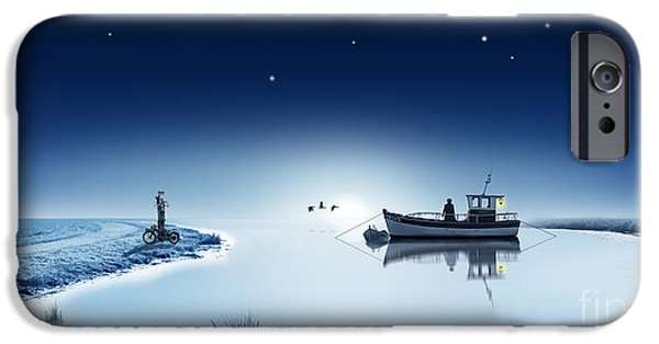 The Lake Is Sleeping In The Wintertime IPhone Case by Monika Juengling