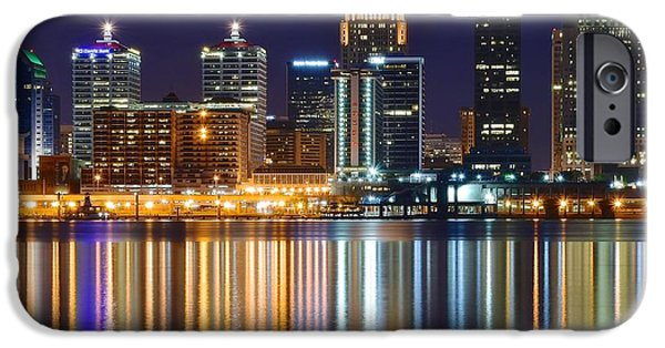 The Lights Of A Louisville Night IPhone Case by Frozen in Time Fine Art Photography