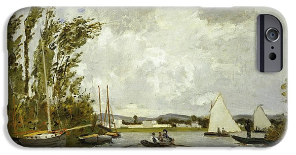 The Little Branch Of The Seine At Argenteuil IPhone Case by Claude Monet