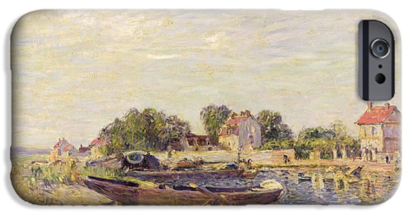 The Loing At Saint Mammes 1885 IPhone Case by Alfred Sisley