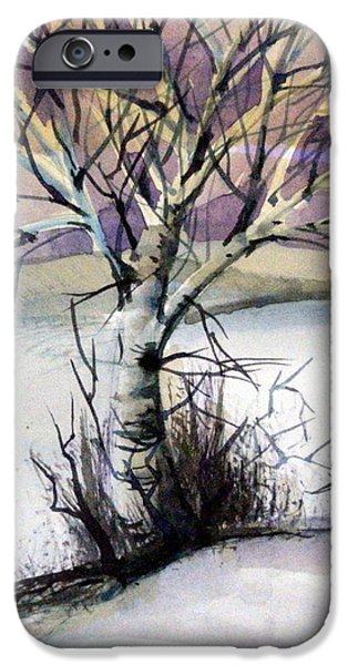 The Lone Tree IPhone Case by Mindy Newman