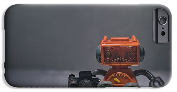 The Lonely Robot Photographer IPhone Case by Scott Norris