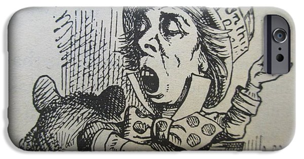 The Mad Hatter Sings IPhone Case by David Lovins