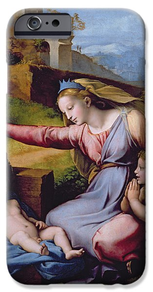 The Madonna Of The Veil IPhone Case by Raphael