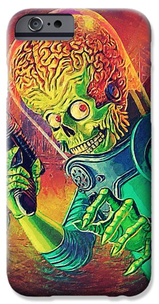 The Martian - Mars Attacks IPhone 6s Case by Taylan Apukovska