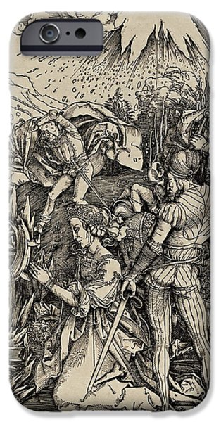 The Martyrdom Of St. Catherine Of Alexandria IPhone Case by Albrecht Durer