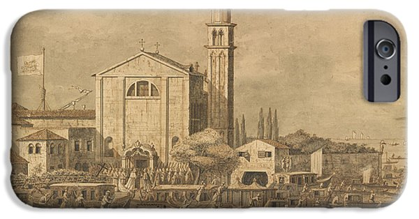 The Meeting Of Pope Pius Vi And The Doge On The Island Of S. Giorgio In Alga IPhone Case by Celestial Images