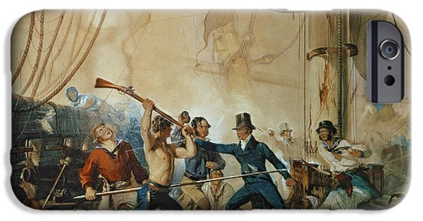 The Melee On Board The Chesapeake IPhone Case by Anonymous