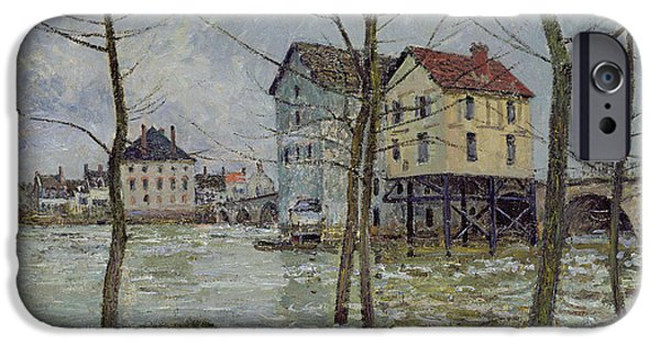 The Mills At Moret Sur Loing IPhone Case by Alfred Sisley