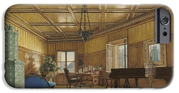 The Music Room Of Archduchess Margarete  Princess Of Saxony IPhone Case by Heinrich Von Forster