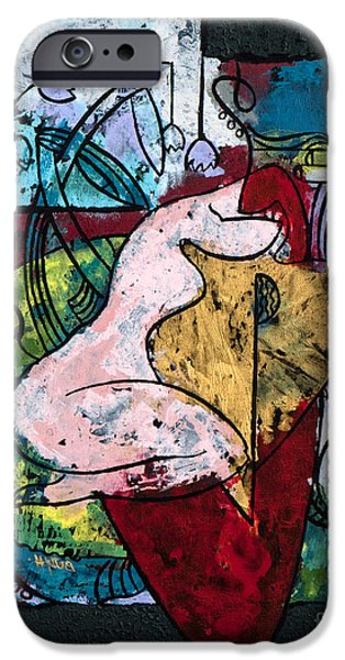 The Musician And Her Golden Tool IPhone Case by Elisabeta Hermann