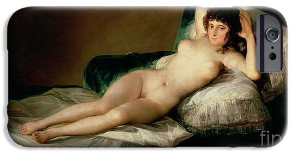The Naked Maja IPhone Case by Goya