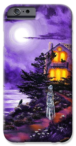 The Night's Plutonian Shore IPhone Case by Laura Iverson