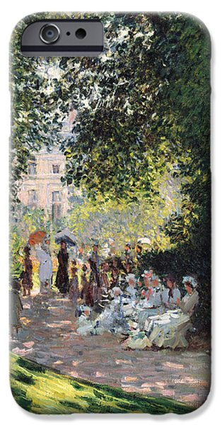 The Parc Monceau IPhone Case by Claude Monet