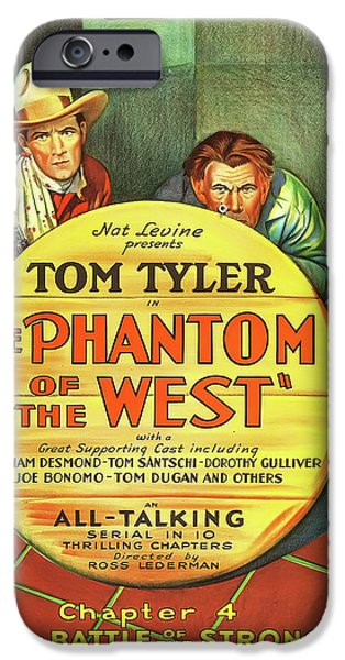 The Phantom Of The West 1931 IPhone 6s Case by Mountain Dreams