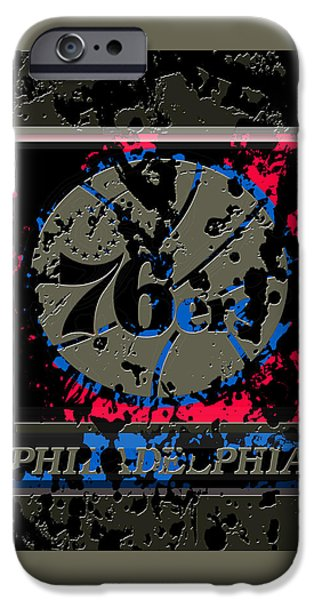 The Philadelphia 76ers 1b IPhone Case by Brian Reaves