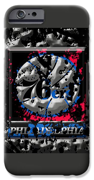 The Philadelphia 76ers IPhone Case by Brian Reaves
