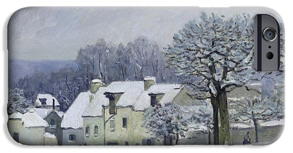 The Place Du Chenil At Marly Le Roi IPhone Case by Alfred Sisley
