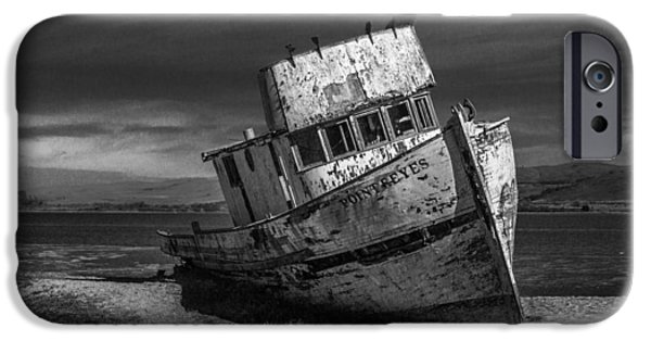 The Point Reyes In Black And White IPhone Case by Bill Gallagher