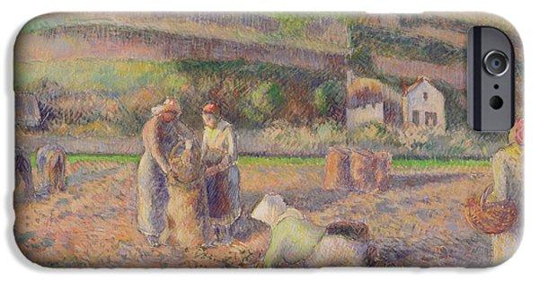 The Potato Harvest IPhone 6s Case by Camille Pissarro