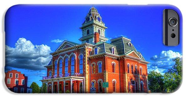 The Rebuild Historic Hancock County Court House Sparta Georgia IPhone Case by Reid Callaway
