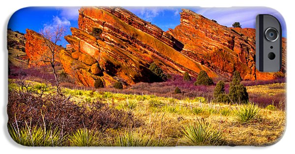 The Red Rock Park Vi IPhone Case by David Patterson