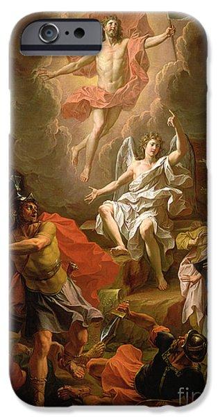 The Resurrection Of Christ IPhone Case by Noel Coypel