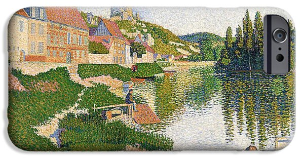 The River Bank IPhone Case by Paul Signac