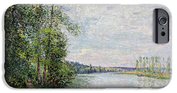 The Riverside Road From Veneux To Thomery IPhone Case by Alfred Sisley
