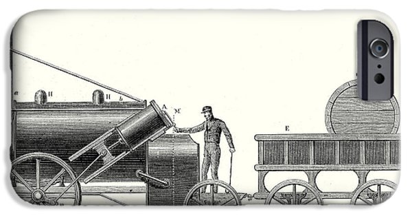 The Rocket Locomotive Of George And Robert Stephenson IPhone Case by English School