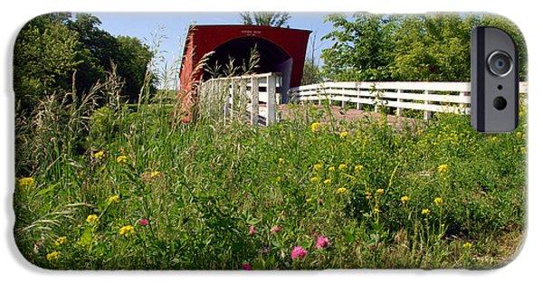 The Roseman Bridge In Madison County Iowa IPhone Case by Susanne Van Hulst