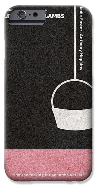 The Silence Of The Lambs IPhone Case by Ayse Deniz