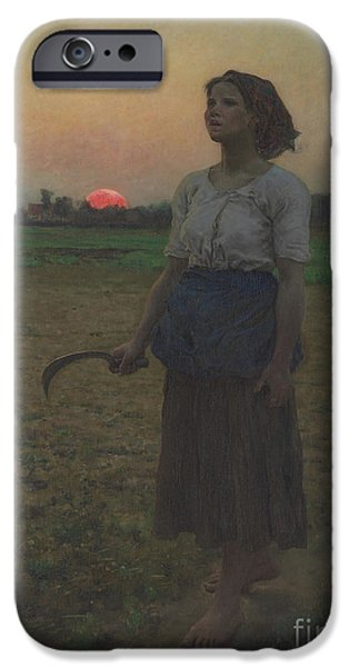 The Song Of The Lark IPhone Case by Jules Breton
