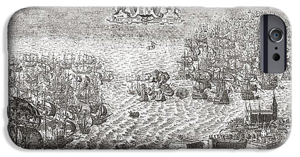 The Spanish Armada Flying To Calais IPhone Case by Vintage Design Pics